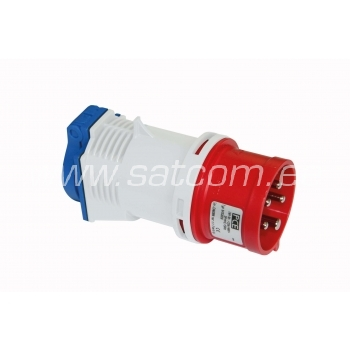 Adapter 16A 5P 400V pistik - 16A Schuko IP44