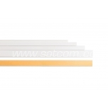 Cable trunking 12x12 mm white, with sticker, 2 m