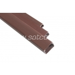 Cable trunking 16 x 16 mm brown 2 m