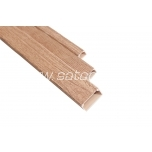 Cable trunking 16 x 16 mm beech wood 2 m