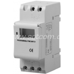 Digital timer for DIN rail