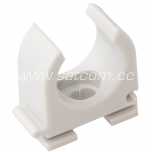 Plastic clamp for conduit ø25mm, 100pc box
