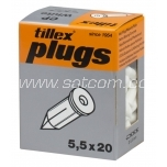 Nail plug white 20 pc in package Tillex