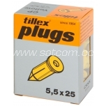 Nail plug yellow 100 pc in box Tillex