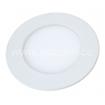 LED downlight 3W, 3000K, 225lm, recessed