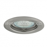 Halogen downlight satin-chrome (Alpe 16)