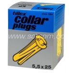 Collar plug yellow 5,5x25mm 100 pc in box Tillex