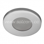 Halogen downlight IP44 chrome (L-300)