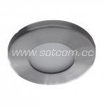 Halogen downlight IP44 satin-chrome (L-300)