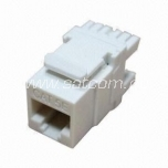 Keystone jack RJ45 Cat5e packaged