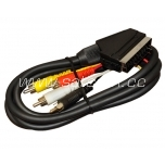 Scart - scart + 4 RCA audio connection cable packaged