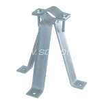 Wall mount 20 cm 3-legged with clamp