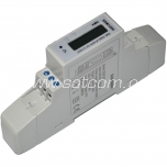 Energy meter, 1 pole for DIN rail with LCD display