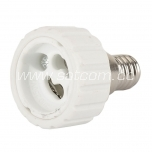 Lamp holder adapter E14-GU10 packaged