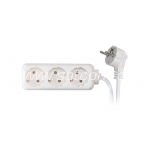 Extension cord 3 sockets 3m 3G1,0mm² 10A white