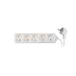 Extension cord 5 sockets 3m 3G1,0mm² 10A white
