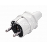 Plug with earthing  220V white Viko packaged