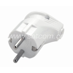 Corner plug with earthing 220V Viko white packaged