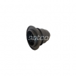 Lamp holder plastic E27 with thread and ring black packaged