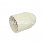 Lamp holder plastic E27 white packaged