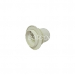 Lamp holder plastic E27 with thread and ring white packaged