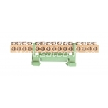 Earthing bar for 15 wires 16mm² 60A 660V