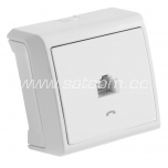Data-socket single Vera white