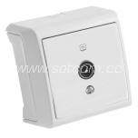 Socket single TV-end Vera white