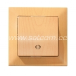 Switch single illuminated Candela beech packaged