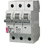 ETI Miniature circuit breaker 3P B 10A 6kA