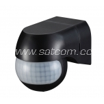 Movement sensor 180º IP44 black