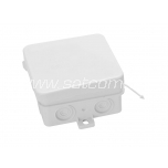 Junction box IP54 75x75x37 mm white