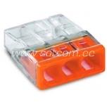 WAGO kiirklemm 3 x 0,5-2,5mm² 100tk