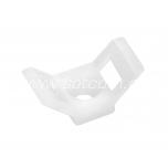 Base for cable tie 15x30x9 mm, white, 100 pc