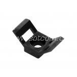 Base for cable tie  15x30x9 mm, black, 100 pc