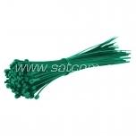 Kaabliside SapiSelco 140 x 3,5 mm, roheline, 100 tk