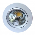 LED downlight 10w COB 450lm, 4000K, flush-mount