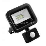 LED flood light with sensor 10W, 4000K