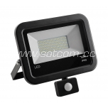 LED flood light with sensor black 50W, 4000K
