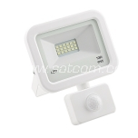 LED flood light with sensor white 10W, 4000K