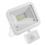LED flood light with sensor white 20W, 4000K