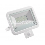 LED flood light with sensor white 50W, 4000K