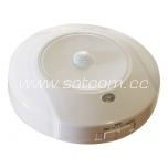 LED nightlight with sensor for wall socket