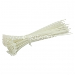 Cable tie SapiSelco 300 x 4,5 mm,white, 100 pcs