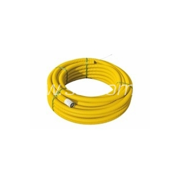 Painduv topeltseinaga kõri + muhv PipeLife ø50mm 50m rull, kollane 450N