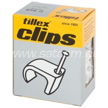 Kaablinael lapikule kaablile 3x5mm valget 20 tk pakendis Tillex