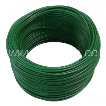Elektrijuhe 0,75mm² roheline H05V-K Lietkabelis 100 m