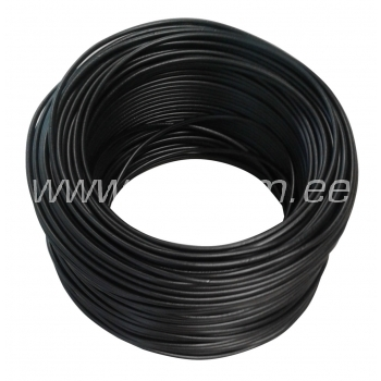 Elektrijuhe 1,5mm² must H07V-K Lietkabelis 100 m