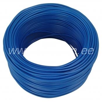 Elektrijuhe 1,5mm² sinine H07V-K Lietkabelis 100 m