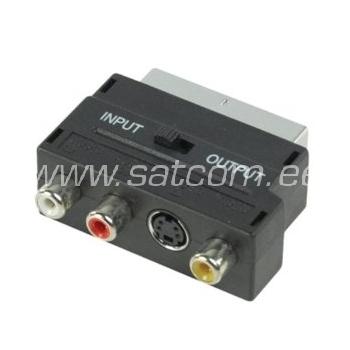 Scart - RCA + S-VHS üleminek